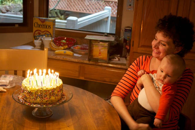 Birthday # 29. I blew out all those candles.