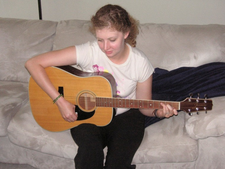 First learning to play the guitar. (Several years later, I'm still learning.)