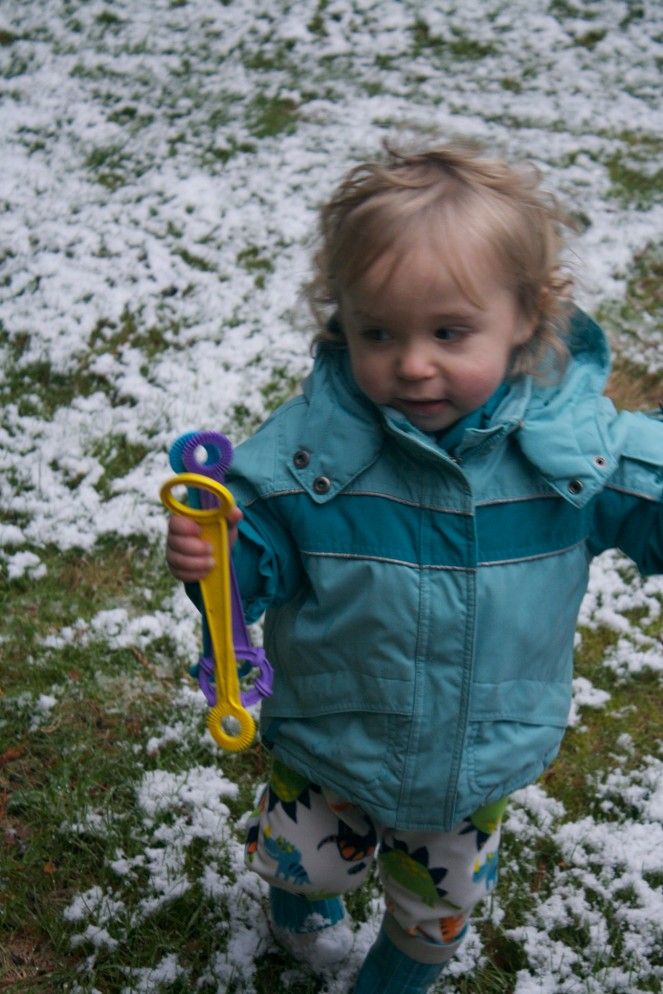 I didn't actually take any pictures in Leavenworth, so here's a cute one of the boy in the snow the next day.